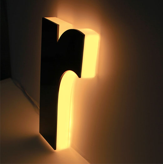SANDWICH CHANNEL LETTER | Face: 3mm Opaque acrylic | Body: 20mm Opal Acrylic | Side-lit Led Lighting | ESMER REKLAM | www.esmerreklam.com