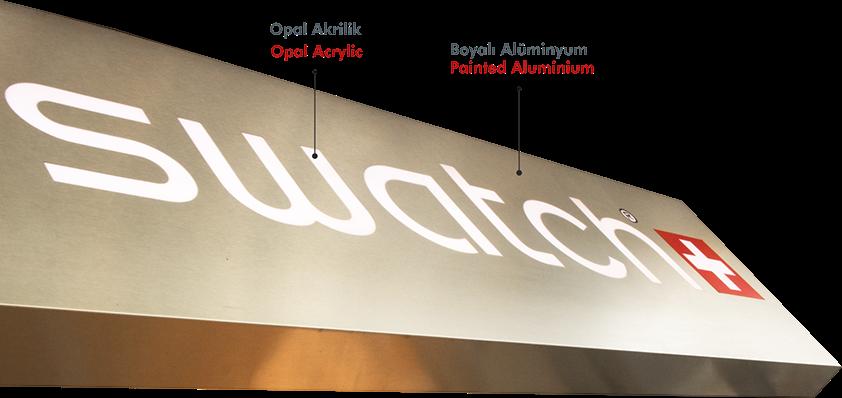 SIGNBOARD | MILLED ALUMINIUM SIGN | Manufacturer | Signage | ESMER REKLAM | Turkey | Illuminated Signboard | Dibond | Aluminium Composite